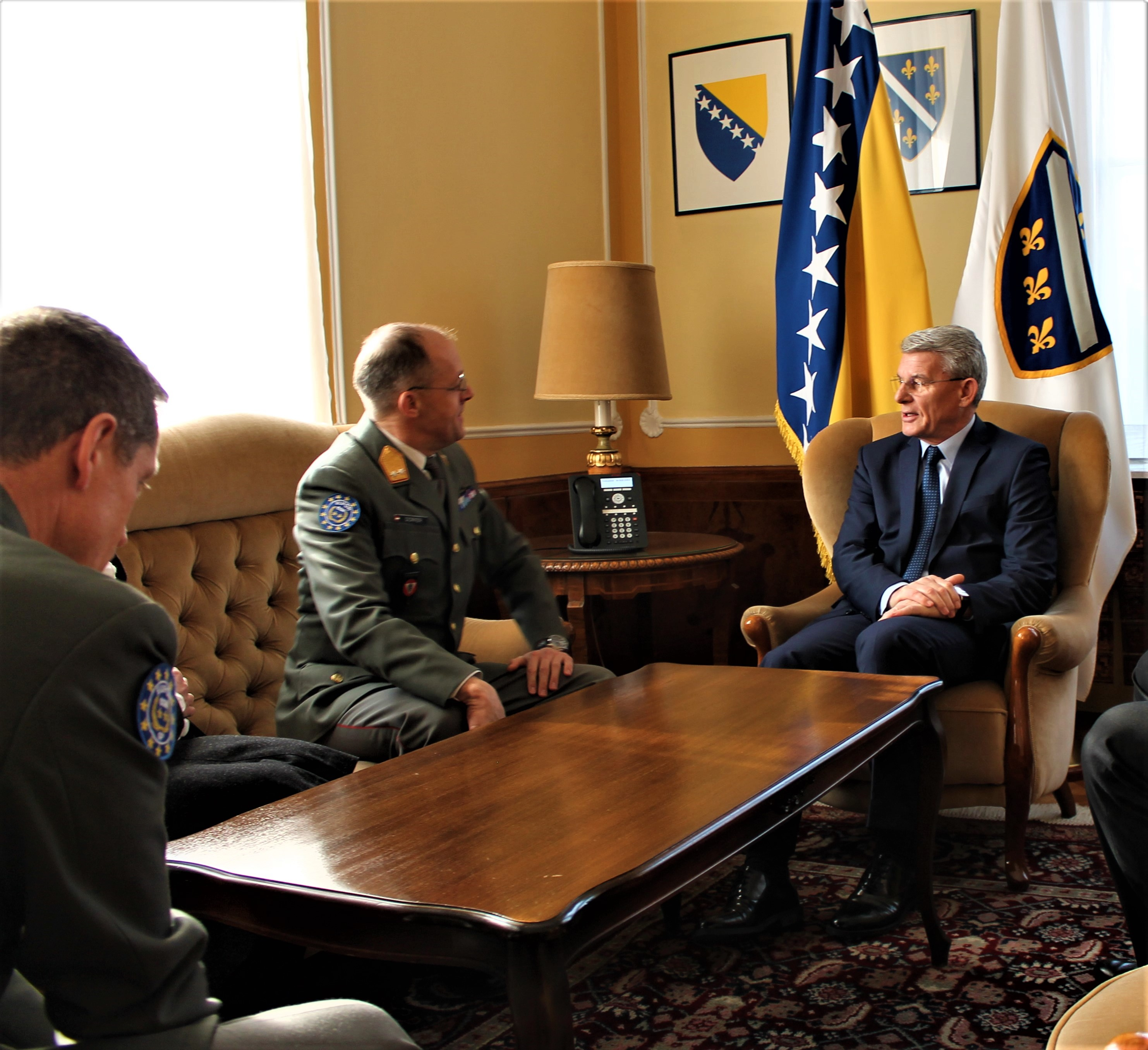 BiH Presidency Member Šefik Džaferović received Commander EUFOR